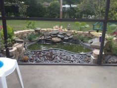 Image result for small turtle pond waterfall