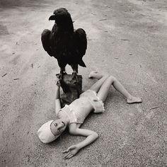 Arthur Tress - Girl with Eagle (1973)