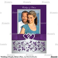 Wedding | Purple, Silver | Floral, Hearts | Photo
