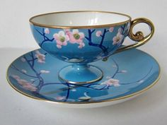Old Noritake 1918. I currently cherish my Noritake Blue Dawn collection but may have to start on these pieces - I have no idea why more people don't collect vintage china! Truly forgotten treasures...