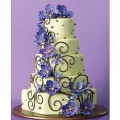 To make it an enchanted forest cake - have the flowers with butterflies, fairies, and birds
