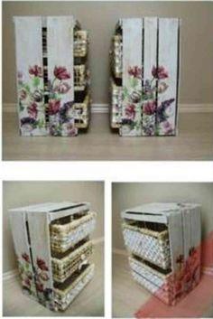 1000 images about muebles con cajones de frutas on - Manualidades con cajas de madera ...