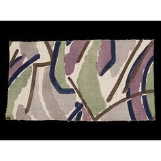 Furnishing fabric  Place of origin: Maromme, France (made)  England, Great Britain (designed)  Date: 1913 (printed)  Artist/Maker: Vanessa Bell, born 1879 - died 1961 (possibly, designer)  Grant, Duncan, born 1885 - died 1978 (possibly, designer)  Omega Workshops (designed for)
