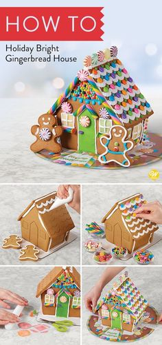 Let the decorating fun begin! Assembled and embossed gingerbread house, three co. - Let the decorating fun begin! Assembled and embossed gingerbread house, three colors of icing, deco - Homemade Gingerbread House, Gingerbread House Candy, Gingerbread House Designs, Gingerbread House Decorating Ideas, Gingerbread House Frosting, Christmas Treats, Christmas Baking, Christmas Cookies For Kids, Italian Christmas
