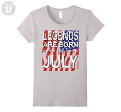 Womens July Birthday Vintage Made in July Gift ideas Man T shirt Large Silver - Birthday shirts (*Amazon Partner-Link)