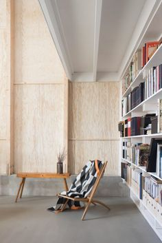 Björn Förstberg, co-founder of Malmö-based studio Förstberg Ling, was asked by his mother – a librarian and a weaver – for a small but airy home, with a studio space and a generous amount of bookshelves.
