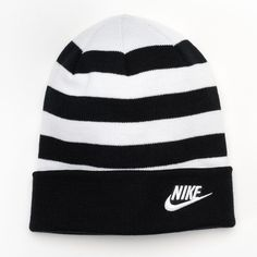 baf660cb341ed Men s Nike Striped Beanie ( 7.50) ❤ liked on Polyvore featuring men s  fashion