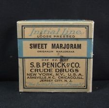 Vintage Apothecary Pharmacy Drugstore Sweet Marjoram S.B.Penick & Co. 1930's