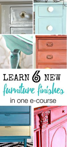 Expand your furniture portfolio and learn 6 new fabulous furniture finishes: Rustic Farmhouse Finish, Modern Finish, Two Toned Finishes, Dry Brushing, and Crackle in this online furniture painting ecourse is taught by furniture painting expert Allison Griffith of Refunk My Junk. Learn the furniture painting basics, how to paint furniture with chalk paints, how to use furniture wax and tons of Furniture Painting Tips and furniture finish tutorials