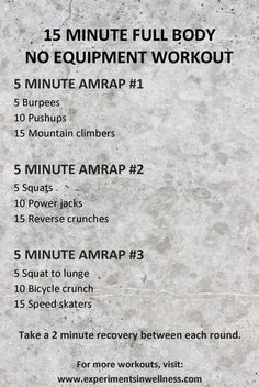 HIIT training can be hard and laborious, especially for newbies who are not yet ready to use their body's maximum potential throughout their workout sessions. Amrap Workout, Tabata Workouts, At Home Workouts, Workout Body, Boxing Workout, Workout Plans, 15 Minute Hiit Workout, Kids Workout, Song Workouts