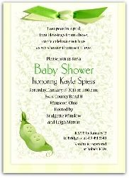 Twin Baby Shower Invitation with Peas in the Pod
