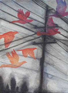 "Saatchi Art Artist Maya Kuvaja; Drawing, ""Passage"" #art"