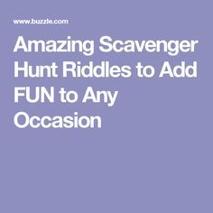 Crossword puzzle scavenger hunt clue scavenger hunt pinterest amazing scavenger hunt riddles to add fun to any occasion malvernweather Images