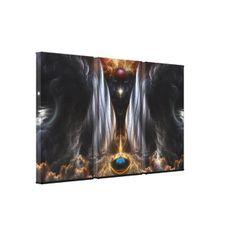 Dream Of Sages Fractal Art 3Panel Canvas Print $312.90