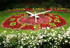 Clock of flowers, Viña del Mar,Chile, it`s so beautiful Amazing Gardens, Beautiful Gardens, Chile Tours, Places Around The World, Around The Worlds, Places To See, Places Ive Been, Wonderful Places, Beautiful Places