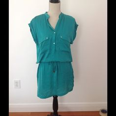 Zara camisole dress teal Only worn twice, good condition- offers accepted!! Zara Dresses