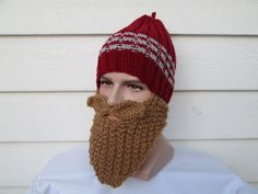 This Knitted Bearded Football Hat inspired by the colors of Washington State Cougars . Crochet Adult Football Helmet Hat is a perfect Unique One of