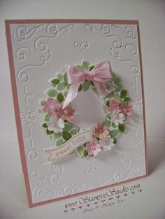 Stampin' Studio, Stampin' Up! Wondrous Wreath, Filigree Embossing Folder, Boho Blossoms Punch, Itty Bitty Banners