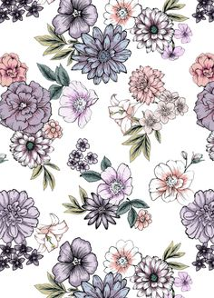 Light garden flowers pattern by susanna nousiainen @redbubble available in various product #summerflowers #flowerprint #pattern #patterndesigner