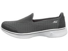 SKECHERS Performance Go Walk 4 - Pursuit Women's Slip on Shoes Charcoal