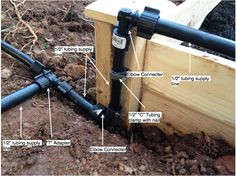 Supply line to raised bed