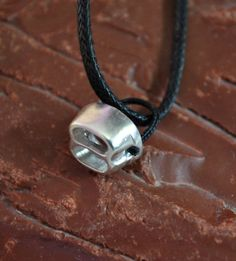 Rock Climbing Tube Belaying Device Sterling Silver Jewelry