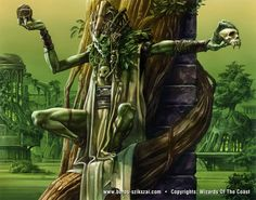 undead shaman [Golgari Guildmage by Zoltan Boros & Gabor Szikszai] Fantasy Illustration, Character Illustration, High Fantasy, Fantasy Art, Elf Ranger, Mtg Art, Dnd Monsters, Witch Doctor, Necromancer