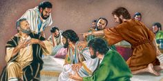 The apostles have already forgotten the lesson Jesus taught earlier the same evening. Jesus patiently corrects them.