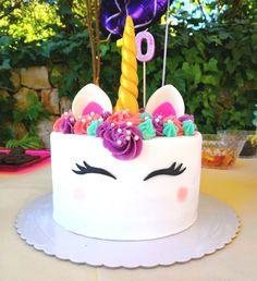 Tarta Unicornio - Petit Delice Unicorn Themed Birthday Party, Birthday Party Themes, Birthday Cake, Fondant Cakes, Wedding Cakes, Sweets, Baking, My Favorite Things, Alaia