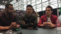 (Magnus), Alberto Rosende (Simon), and Isaiah Mustafa (Luke) sit down to tease Season 2 of Freeform's original series Shadowhunters. Isaiah Mustafa, Alberto Rosende, Shadow Hunters, Jr, Interview