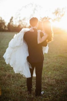 Ideia para fotografia de casamento com pôr-do-sol | Sunset wedding photo idea