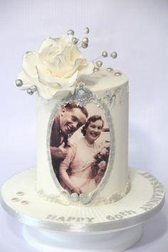 Diamond Anniversary Cake by Cake Addict