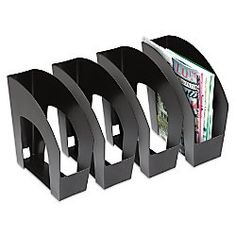 office depot brand arched plastic magazine files 8 12 x 11 black pack of 4 by cep ice magazine rack