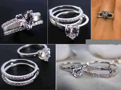 Find images and videos about heart, ring and diamond on We Heart It - the app to get lost in what you love. Engagement Ring Enhancers, Engagement Rings, Heart Shaped Diamond Ring, Diamond Wedding Sets, Love Ring, Unique Rings, Beautiful Rings, Jewelry Accessories, Wedding Accessories