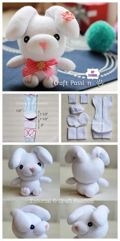 Sew Sock Cute Sock Bunny Projects Round Up Diy Sock Toys, Sock Crafts, Sewing Stuffed Animals, Stuffed Animal Patterns, Sock Monkey Pattern, Diy Unicorn, Hand Crafts For Kids, Felt Doll Patterns, Sock Dolls