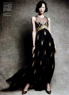"""Coco Chanel""  Vogue China // February 2011  Model Liu Wen // Ph. Victor Demarchelier // Stylist: Nicoletta Santoro"