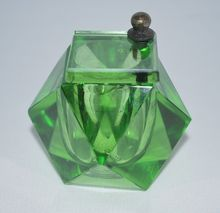 19th Century French Glass Inkwell with Pivoting lid
