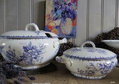 Olga van Societé Ceramique in lila/paars is zooo mooi <3  Nu eindelijk de soepterrine in mijn privé collectie :-)