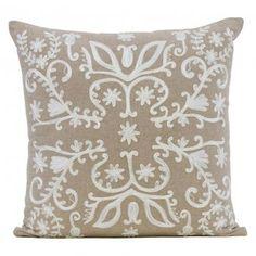 IDC Estelle Flocked Cushion | Zanui.com.au