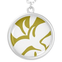 Geometric Abstract Floral Design Pattern Mustard Pendants #vintagemademodern #pattern #floral #abstract