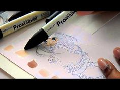 Blending ProMarkers: Skin Tone Tips - YouTube