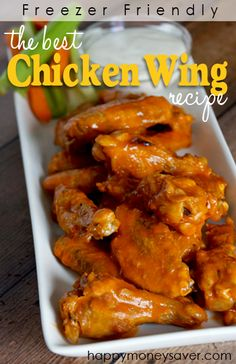 This is the best chicken wing recipe out there! They are crispy, delicious and baked not fried! Calling all wing lovers...you won't be disappointed! | happymoneysaver.com
