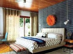 Awesome Mid Century Modern Bedroom Images 2019 - We hope our short small master bedroom ideas would inspire you. Start applying what's suitable for you to get the best outcome. Pinterest Design, Design Your Bedroom, Design Your Home, Bedroom Color Schemes, Bedroom Colors, Modern Bedroom Furniture, Furniture Design, Cheap Furniture, Industrial Furniture