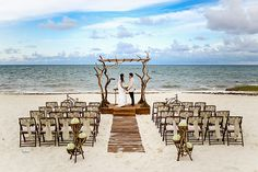 Mexico beach destination wedding with woodsy decor and rustic elements || Photos by: http://jhankarlophotography.com/ || Seen on: http://www.jetfeteblog.com/expert-advice/mexico-beach-wedding-ideas-riviera