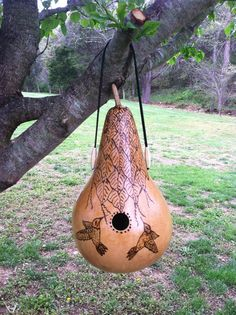 WREN GOURD BIRDHOUSE 404 Woodburned by LeeFamilyCrafts on Etsy, $28.00