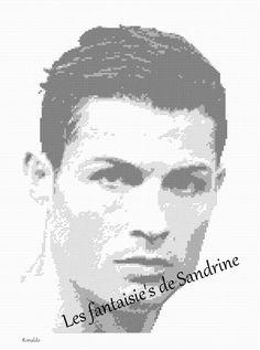 Grille point de croix Ronaldo : Broderie par les-fantaisie-s-de-sandrine