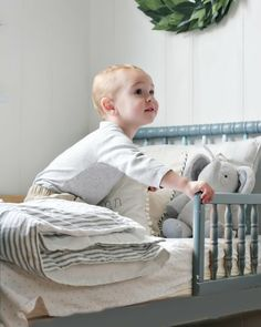 painted jenny lind bed - use crib to make toddler bed