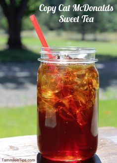Copy Cat McDonalds Sweet Tea ~  This is such a cheap recipe to make! A couple of tea bags, water and sugar and you have a 2 quart jug of delicious sweet tea ready to go!  Recipe @: http://www.tammileetips.com/2013/07/copy-cat-mcdonalds-sweet-tea/
