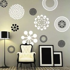 Prettifying Wall Decals - From Trendy Wall designs these in gold--another possibility!
