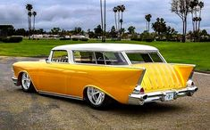 1957 Chevy custom Nomad Wagon - My old classic car collection Chevy Vehicles, Station Wagon Cars, Chevy Nomad, Dodge, Old Classic Cars, Chevy Classic, Old School Cars, Classy Cars, Vintage Trucks
